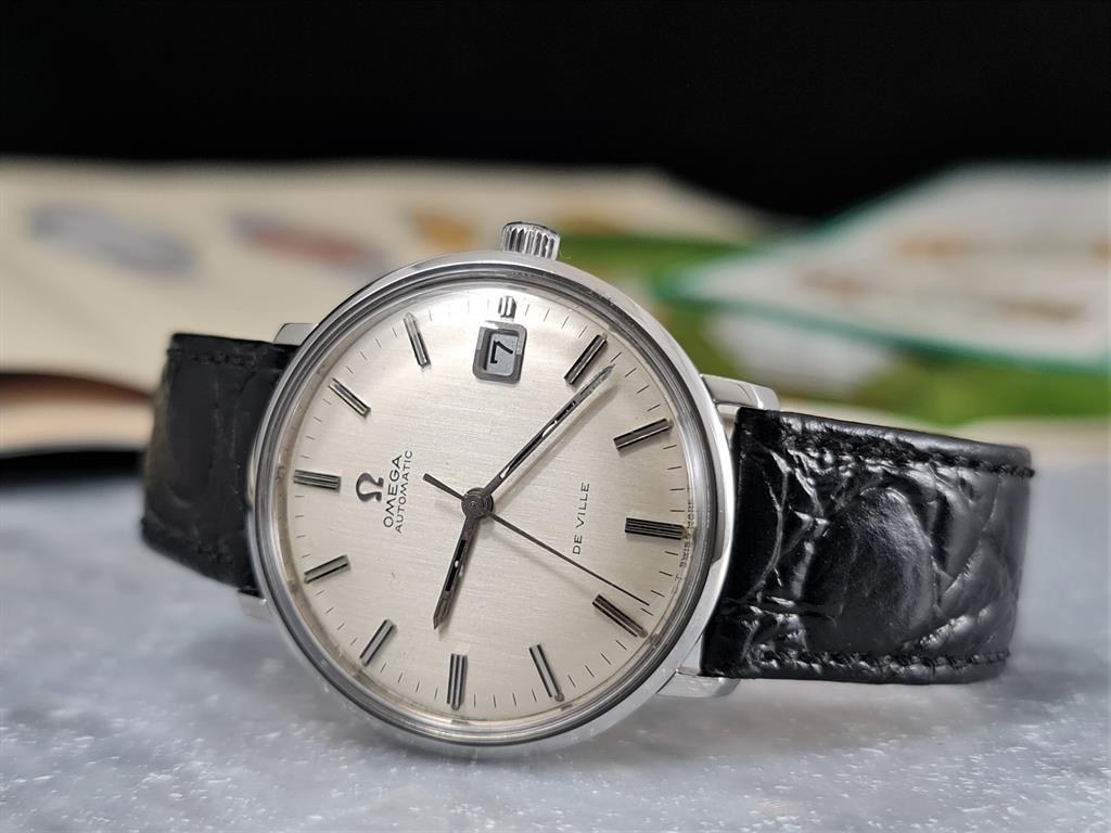omega-de-ville-automatic-date-steel-166033-silver-dial-cal-565-1970-1